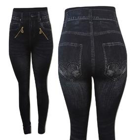 Calça Modeladora Legging Jeans Com Zíper - Tendência 2017