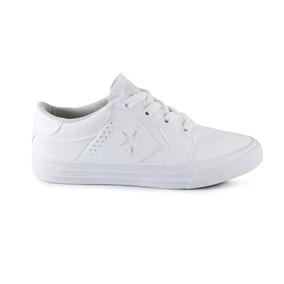 Tenis Converse Tre Star Escolar Blanco 17-22 Originales