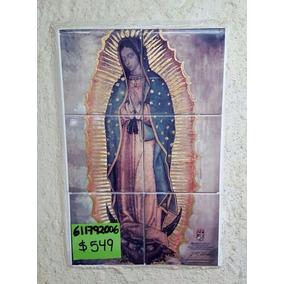 Imágen De Virgen De Guadalupe De 6 Azulejos