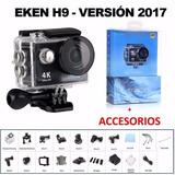 Camara Eken 2017 Logo H9 Full 4k 1080p 60fps Acuatica Go Pro