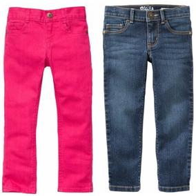 Set 2 Pantalones Skinny Oshkosh Carters Niña Rosa Mezclill 2
