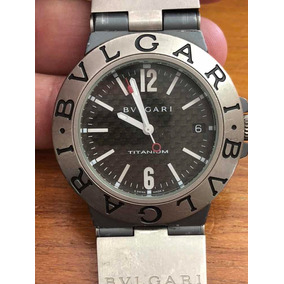 a9b1334cec2 Relogio Bvlgari Titanium Aco Perfeito De Luxo Masculino - Relógios ...