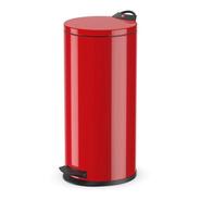 Cubo Cesto Hailo Mod. T2 - Rojo 19 Lts. Tapa Plana-a Pedal