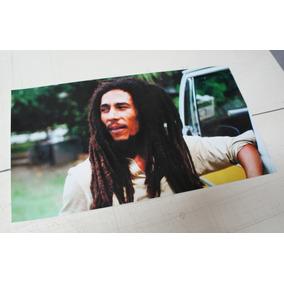 Poster/adesivo Bob Marley 49x28cm Vinil Brilhante Alta Resol