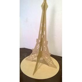Torre París 60 Cm Mdf Madera Centro De Mesa Recuerdo Y Base