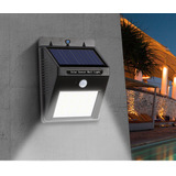 Lampara Foco Led Luz Panel Solar Sensor Movimiento 2a Gen