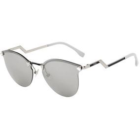 Óculos De Sol Fendi Iridia Espelhado Estilo Gatinho