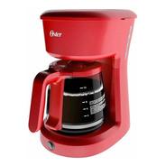 Cafetera Oster Roja De 12 Tazas Filtro Lavable Reusable