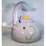 Caldera Pava - Esmaltada. Diseño Elefante. 2,3 Litros