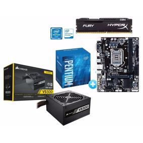 Kit Pentium G4560 + Ga-h110m-h + 8gb + Fonte Vs500 C/nf
