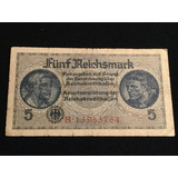 Alemania Nazi- Billete 5 Reichsmark -años 1939/44 - L&m6593