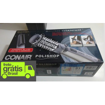 Escova Rotativa Air Brush Titanium Conair Polishop - 110v