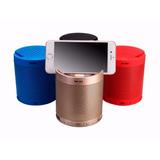Caixa De Som Bluetooth 5w Com Suporte Celular Mp3 Usb Sd