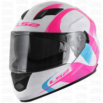 Casco Ls2 320 Doble Visor Stream Velvet Pink Mujer Dama Fas