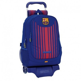 Mochila C Carrinho Fc Barcelona Oficial Importado Europa