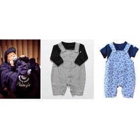 Saida De Maternidade Principe + 2 Jardineiras C/ Camisetas