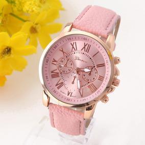 Reloj Geneva Mujer Clasico Romano Moda Vintage Dama A578
