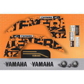 Kit Completo Adesivo Yamaha Tenere 250 2014 Laranja Tnr011