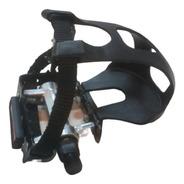 Par De Pedales Aluminio Con Puntera Y Correa Bici Spinning