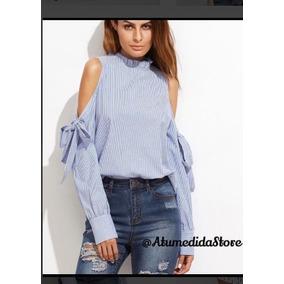 0d92f9565a Hermosa Blusa Camisa De Moda Blanca Con Apliques En Cuero - Ropa y ...