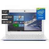 Laptop Lenovo 11.6 Intel Atom 32gb,2gb,windows 10 Nuevo