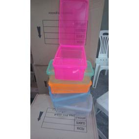 Contenedor Transparente Y De Colores C Tapa Incluida