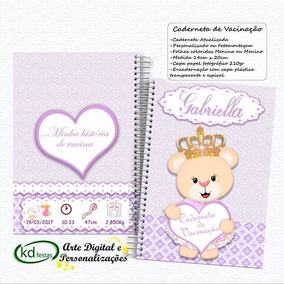 Caderneta De Vaciaçao Personalizada