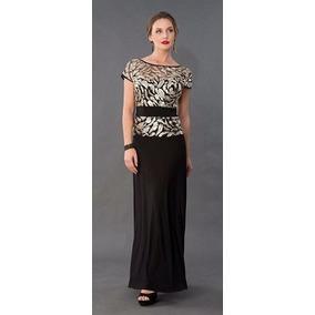 Vestido De Fiesta, Noche, Mama De Novia Negro Con Oro