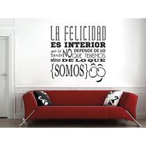 A Vinil Frases P/ Hogar La Felicidad Es Interior 90x90cmmod3