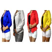 Blazer Feminino Colorido Botão Jaqueta Terninho Fashion Slim
