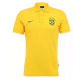 Camisa Polo Nike Sele o Brasil Auth 2014 no Mercado Livre Brasil ea64f9507ccb3
