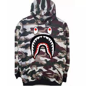 Moletom Camuflado Bape Shark Supreme Swag Unissex Promoção 1