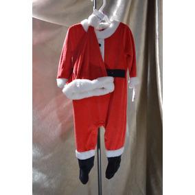 Disfraz Bebe Mameluco Santa Claus Navidad Talla 9 Meses