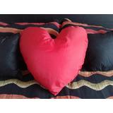 Corazón Almohadon Grande Tela Rellen Micro Perlas
