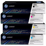 Juego Completo Hp Original 126a Laser Color Cp1025