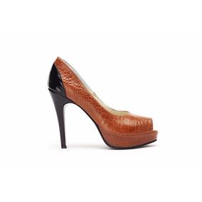 Zapato Dama Cuero Stiletto Plataforma Pepe Cantero. Oferta