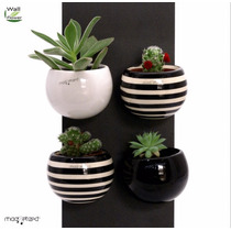 Kit 3 Cachepot / Vaso Magnético Para Plantas Wallflower