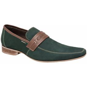 Sapato Social Esporte Fino Em Couro Cor Verde