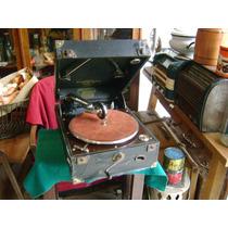 Antigua Vitrola Grafonola Inglesa Columbia Funcionando