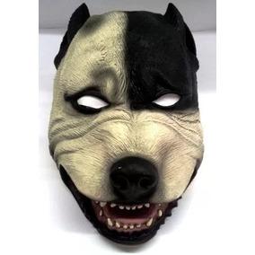 Máscara De Terror Cachorro Pit-bull 100% Látex Frete Grátis