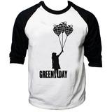 Camisa Raglan 3/4 Green Day American Idiot Rock Billie Joe