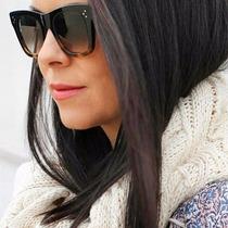 Óculos Celine Preto Com Croco , 100%original, Puro Luxo