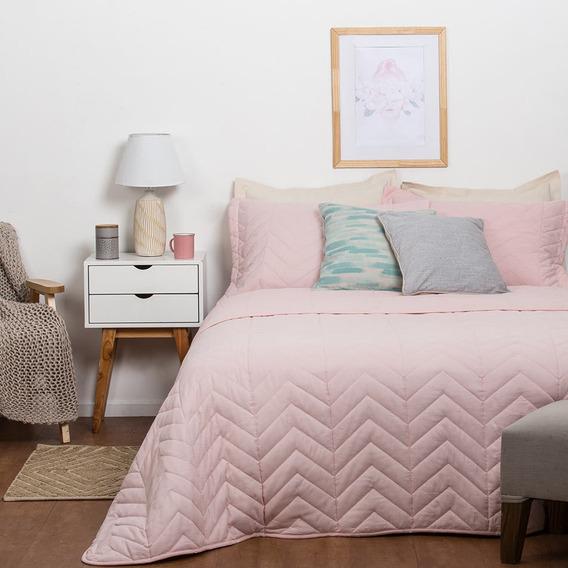 Cubrecama Arredo Queen Size Extra Suave - Color Rosa