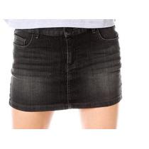 Mini Falda De Mezclilla Obscura Moda Dama Talla 5