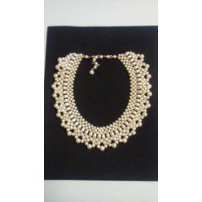 Collar De Perlas Artificiales Bisuteria Fina Para Vestido