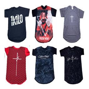 Kit 10 Camisa Longline Masculina Várias Marcas Revenda 06c30179c88ba