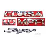 Emblemas Corsa Hatch 1.0 Mpfi Super - 1997 À 2002