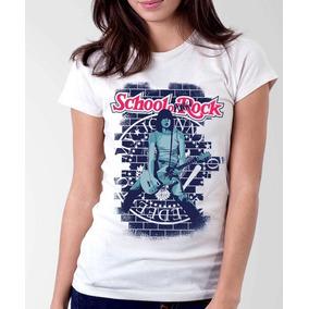 Camiseta Blusa Feminina School Of Punk Rock Ramones