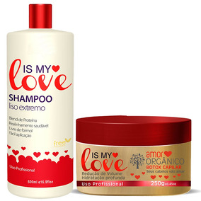 Kit Is My Love Shampoo Alisante 500ml + Botxx Orgânico 250g