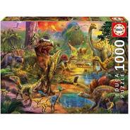Tierra De Dinosaurios Rompecabezas 1000 Piezas Educa